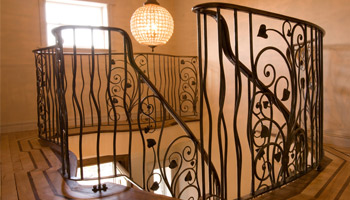 Gates railings and staircases